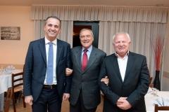 Il Sindaco Groli con il ViceSindaco e il Presidente del Senato Piero Grasso