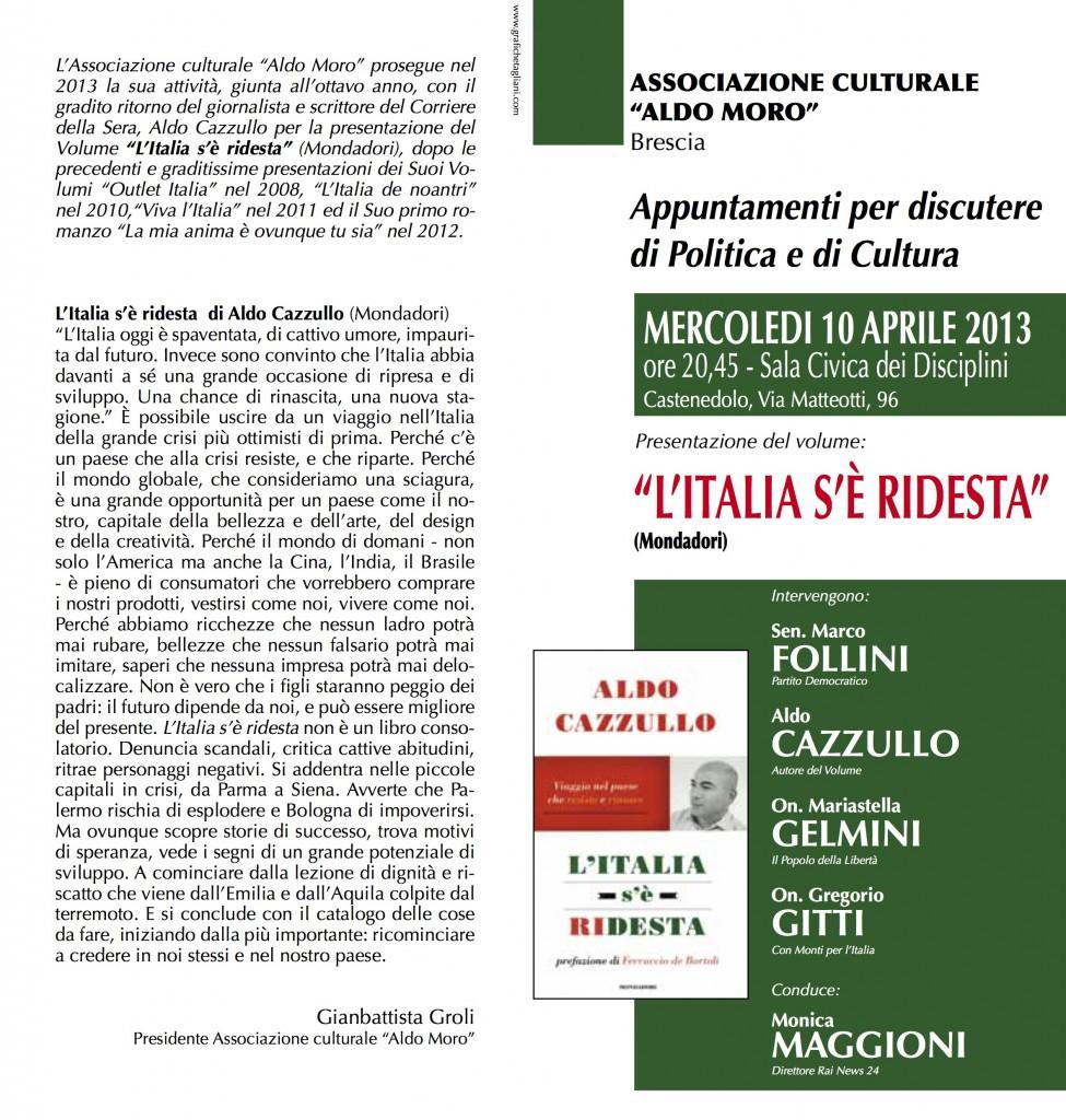 Presentazione libro Aldo Cazzullo