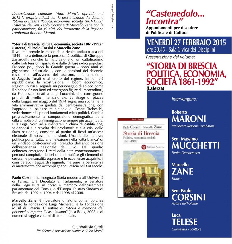 Presentazione libro Paolo Corsini, Marcello Zane
